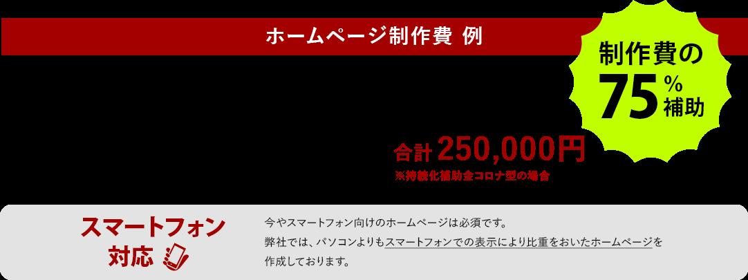 ホームページ制作費例